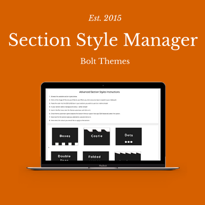 section style manager