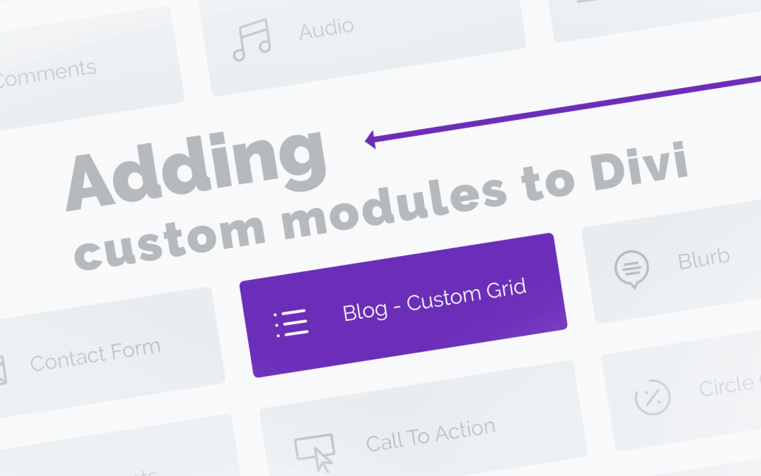 Adding custom modules to Divi
