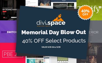 Memorial Day Sale – Save 40% On Select Products