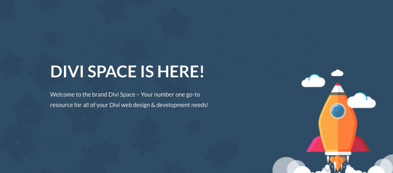 Divi Space website launch featured image