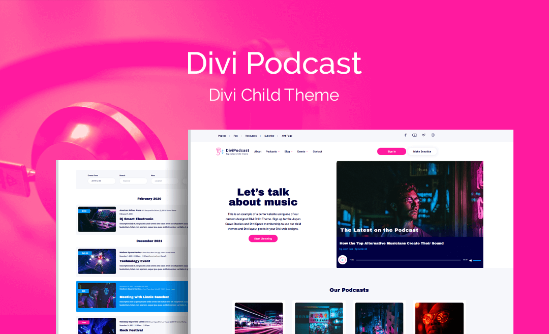 The Best Divi Podcast Child Theme Is Now Available For Download!