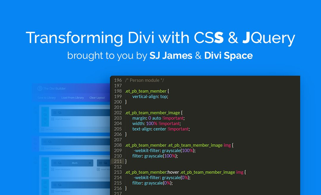 Transforming Divi with CSS & JQuery
