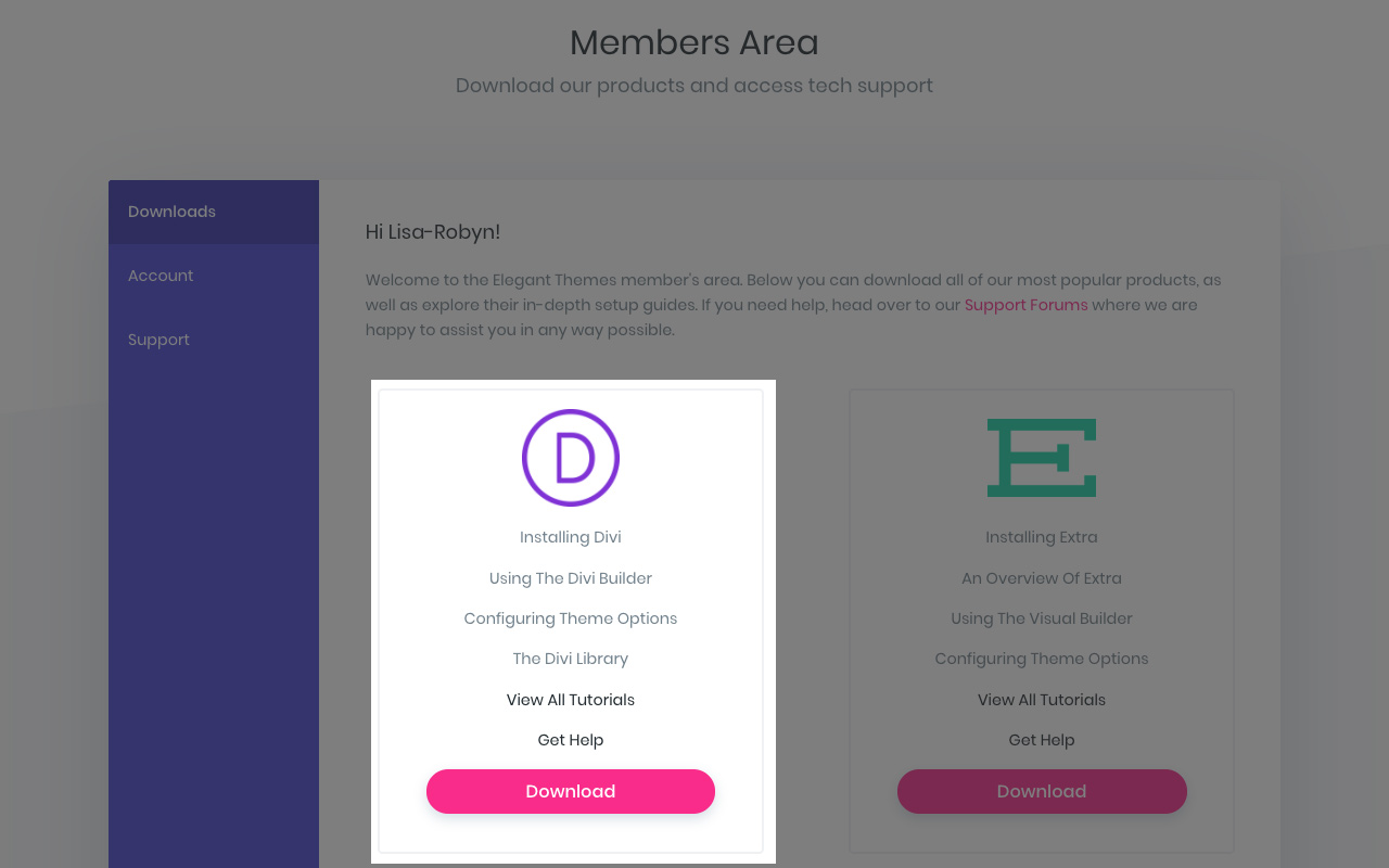 Download Divi from Elegant Themes