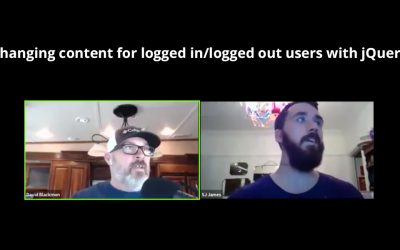Webinar Replay: Changing content for logged in/logged out users with jQuery