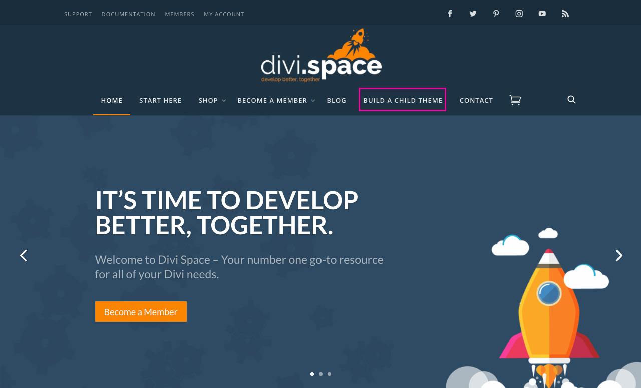 Divi Space Build a Child Theme