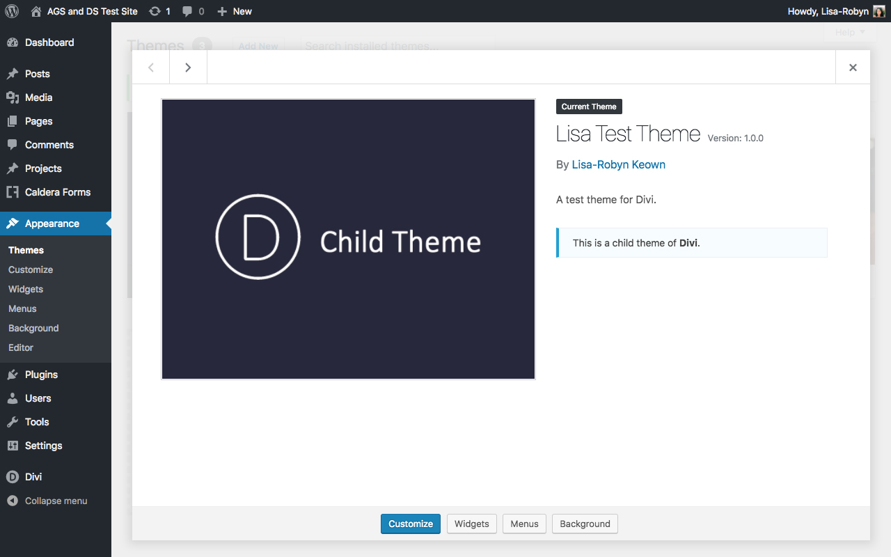 Divi Space Child Theme Generator 7
