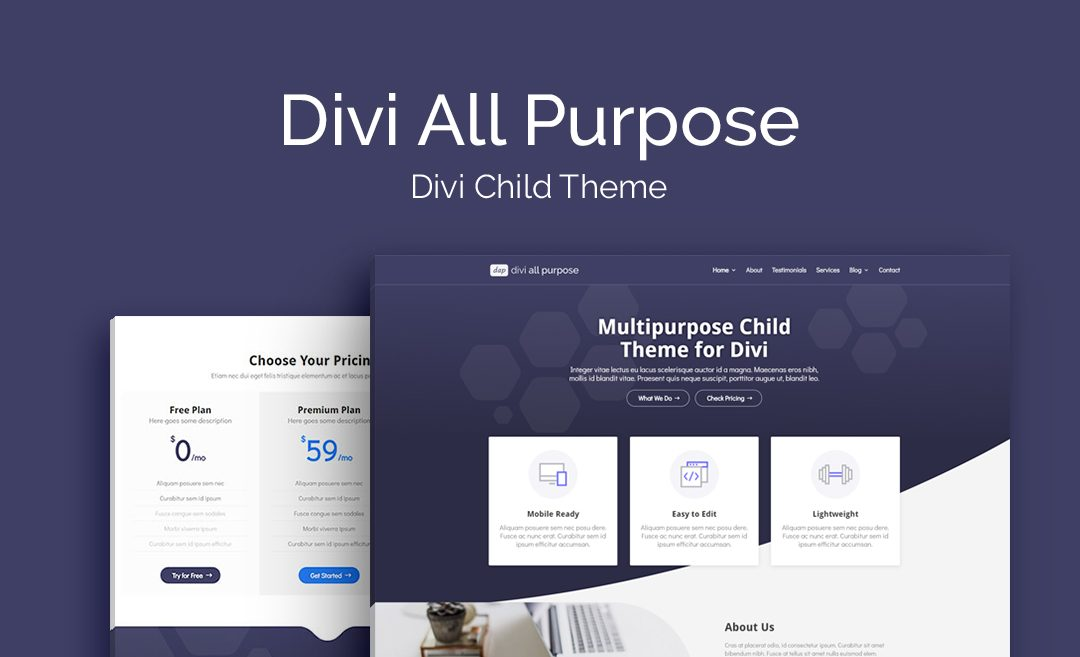 Introducing Divi All Purpose: a Versatile, Free Business Child Theme for Divi