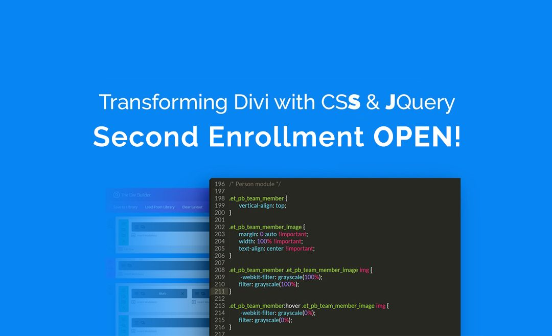 Master CSS and jQuery with the Divi Course: Transforming Divi with CSS & jQuery