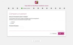 Yoast SEO Configuration Wizard 4 - Person