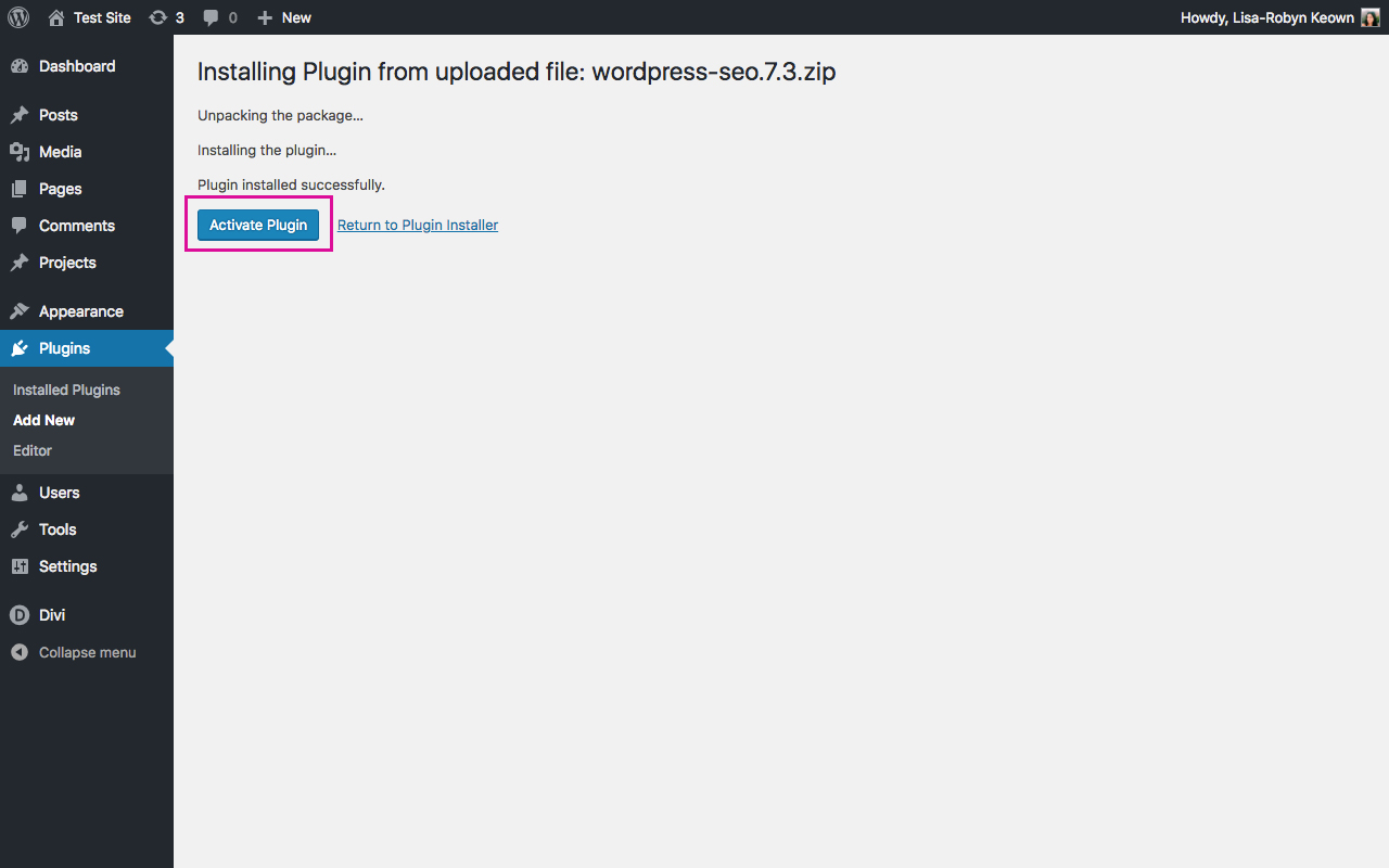 Setup Yoast SEO Plugin WordPress Dashboard