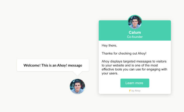 Ahoy Plugin for WordPress Click and Auto Messages