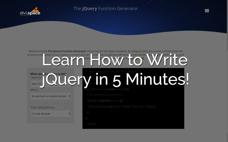 Learn jQuery in 5 Minutes
