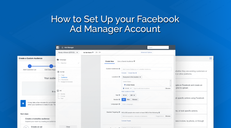 How To Set Up Your FB Ad Manager