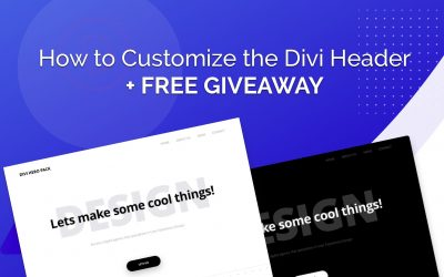 How to Customize the Divi Header + FREE Giveaway