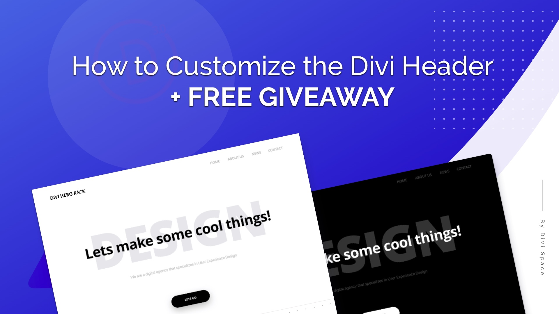 How to Customize the Divi header with CSS + FREE Giveawy