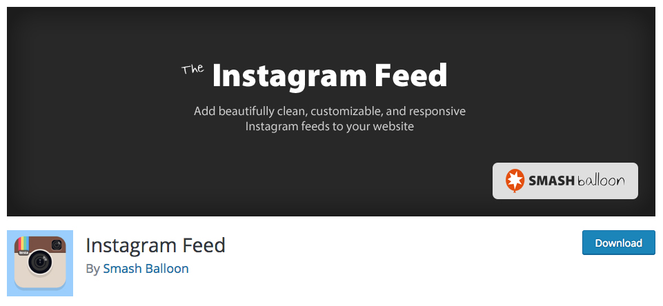 Instagram Feed Plugin from Smash Balloon
