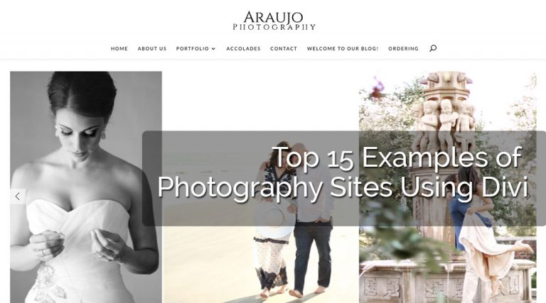 Top 15 Examples of Photography Sites Using Divi