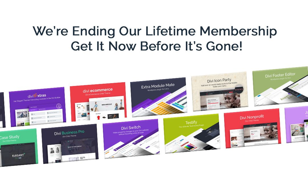 We're Ending Our Divi Space Lifetime Membership – Get In Now Before It's Gone
