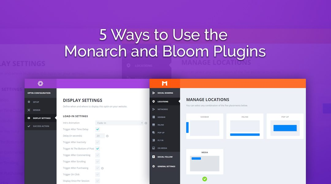 5 Ways to Use the Monarch and Bloom Plugins