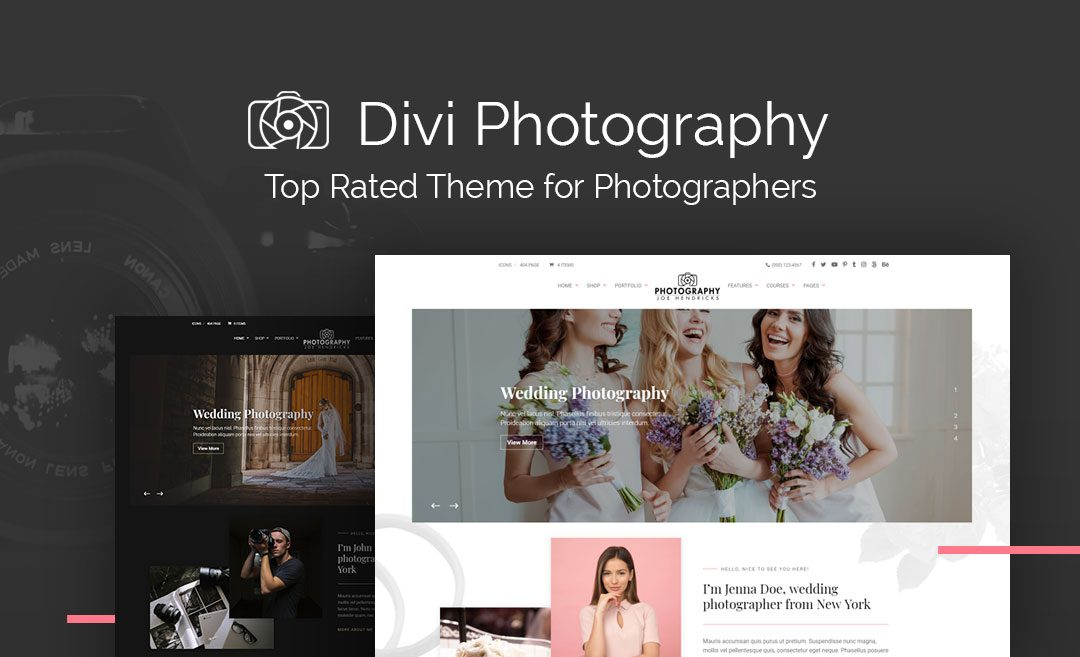 Divi Photography Child Theme | Best Photography Child Theme for Divi