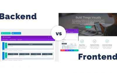 Divi Builder: Backend vs Frontend and the Advantages of Each