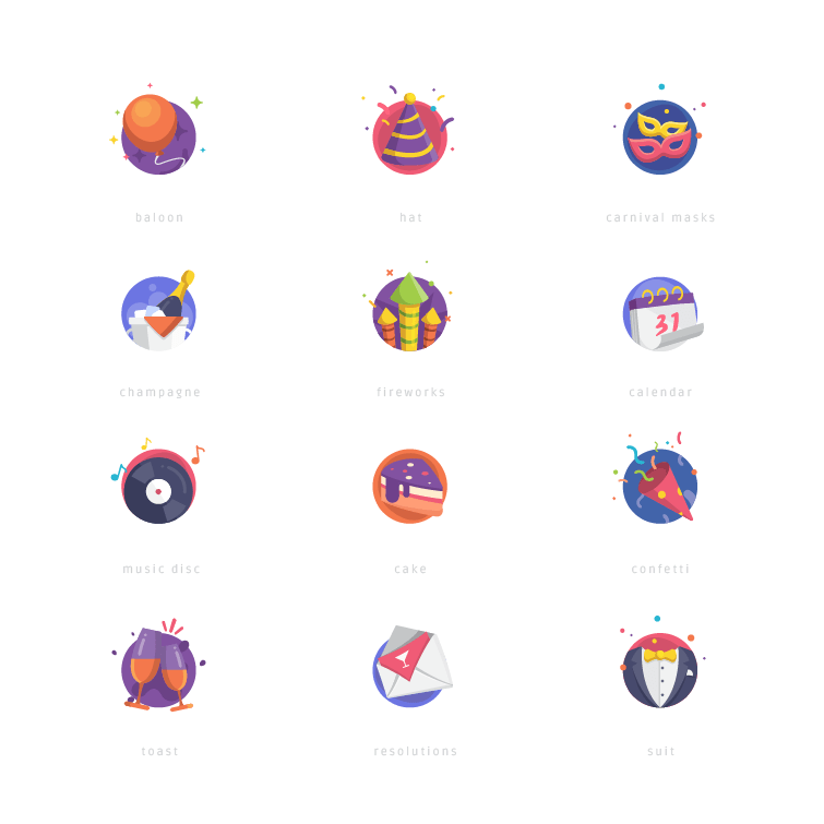 new_year_icons_set