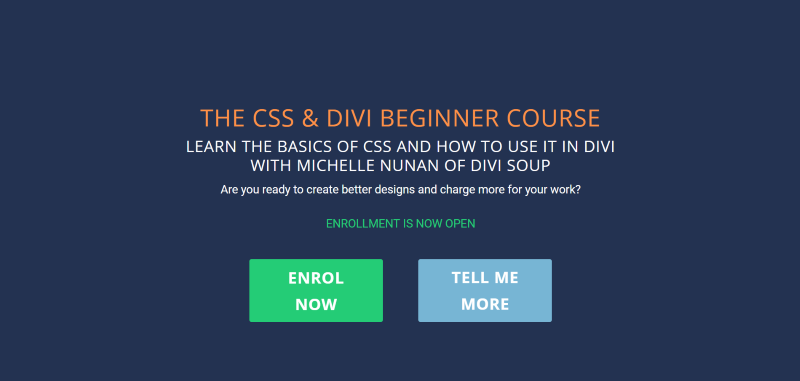 The CSS & Divi Beginner Course from Michelle Nunan