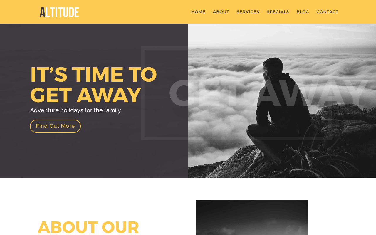 Free Divi Child Themes Altitude by Love Divi