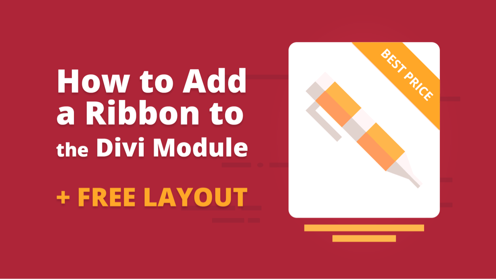 How to Add a Ribbon to the Divi Module