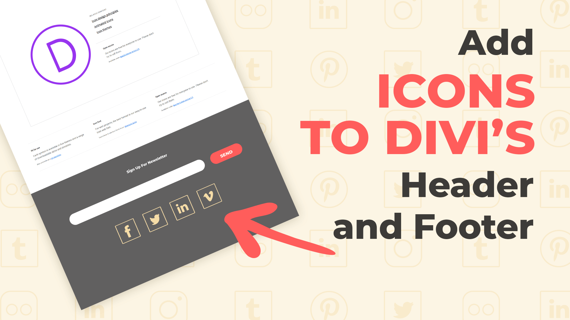 How To Add More Social Media Icons to Divi's Header and Footer