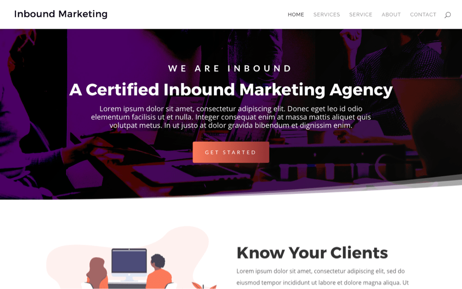 Best Free Divi Layout Packs Inbound Marketing from Quiroz