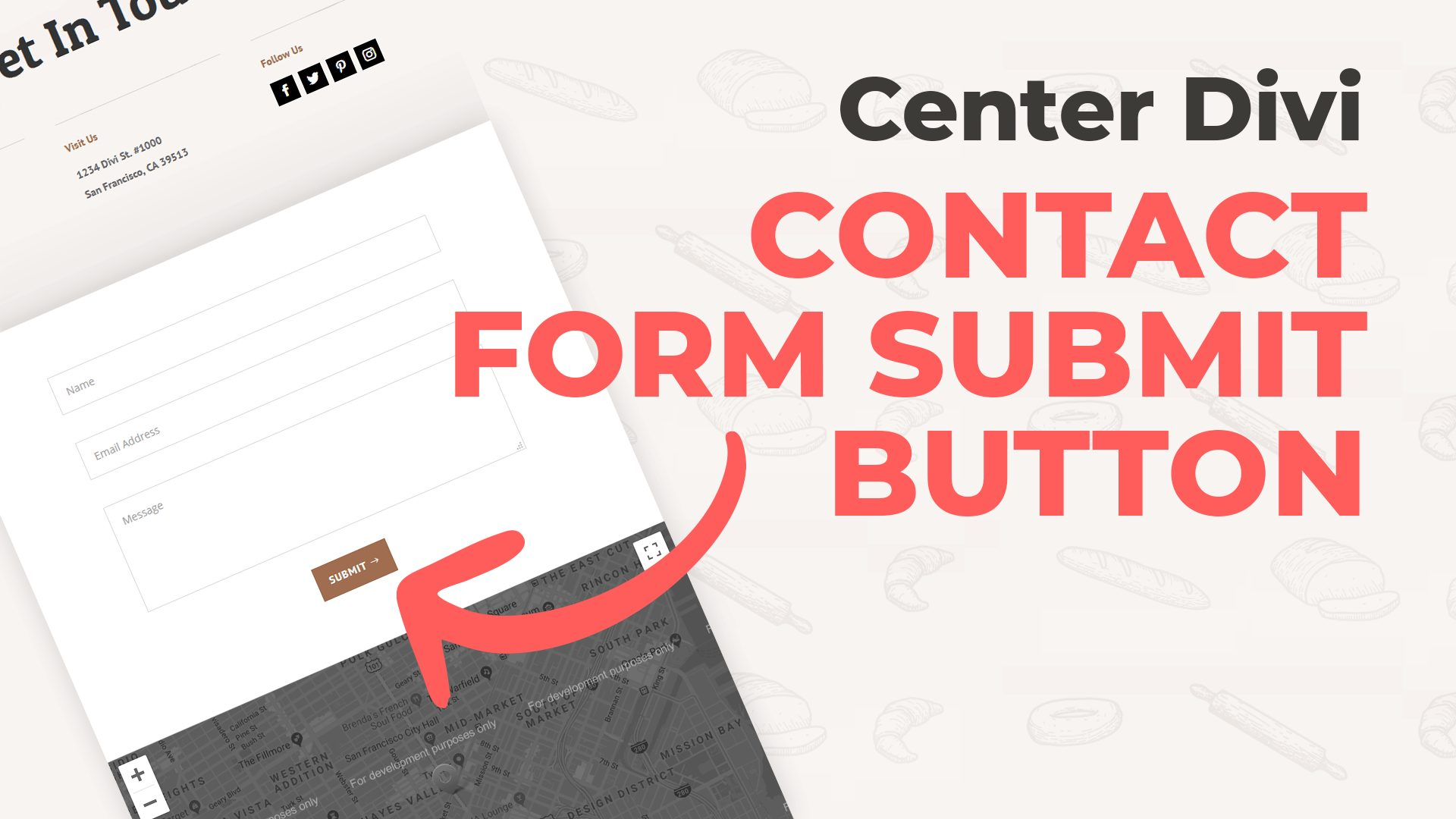 Divi Contact Form: Center Submit Button