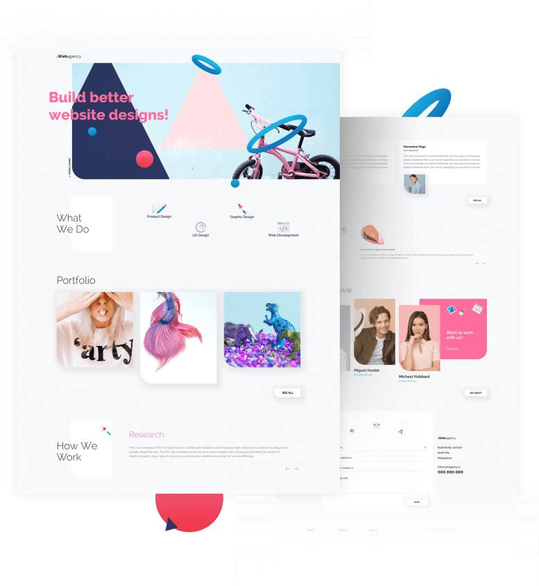 Best Free Divi Layout Packs Creative Agency from Divi Space