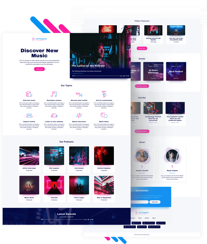 Best Free Divi Layout Packs Podcast Layout from Divi Space