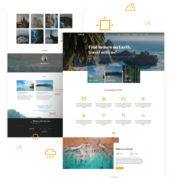 Best Free Divi Layout Packs Travel Layout from Divi Space