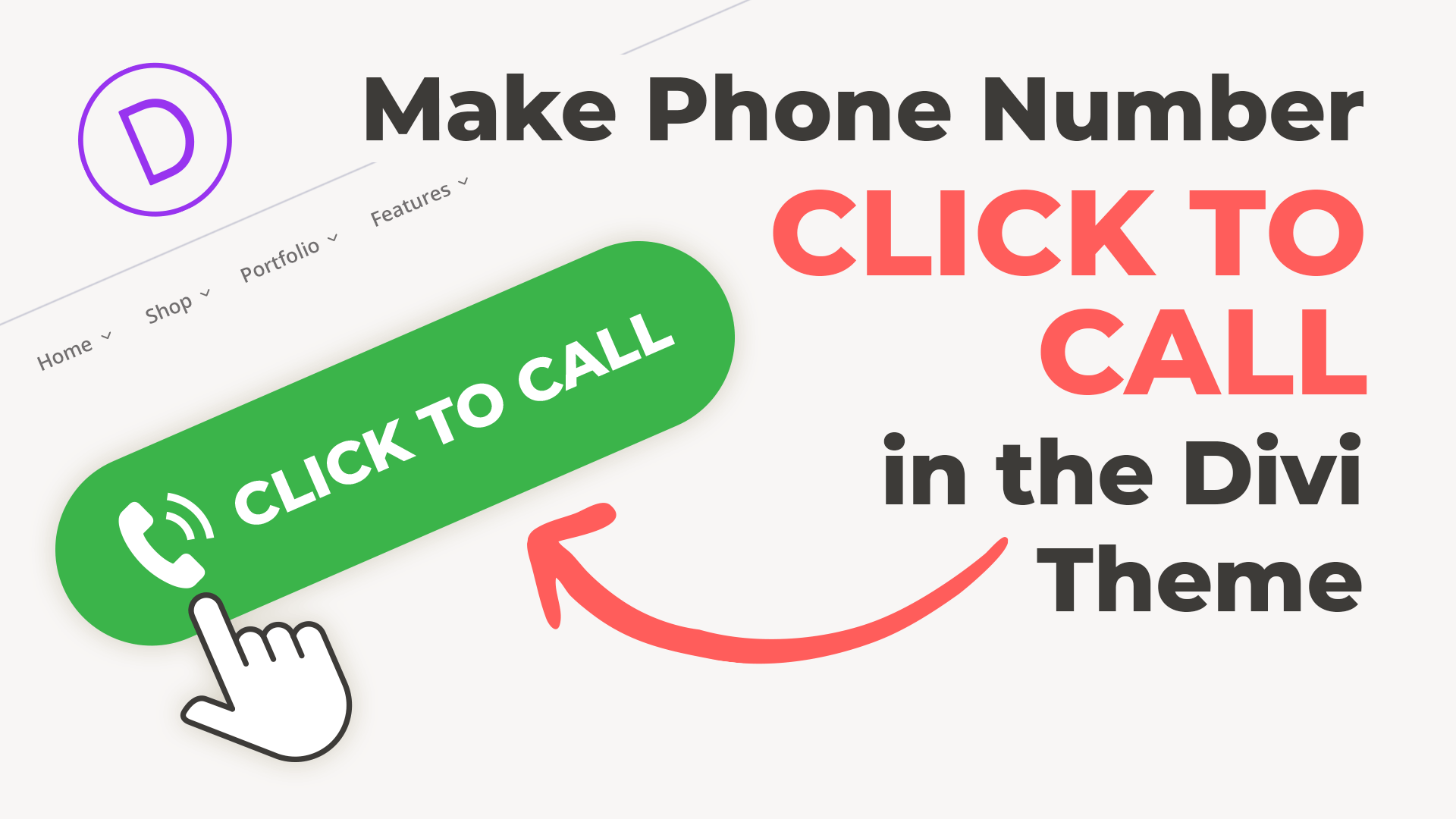 Make Phone Number Click to Call in the Divi Theme