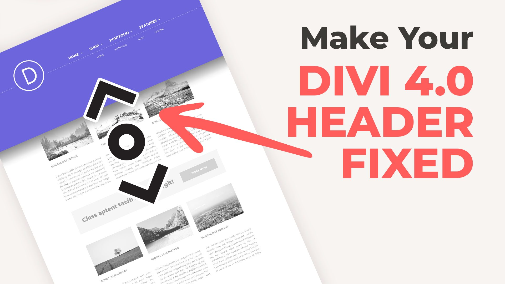 Make Divi 4.0 Header Sticky or Fixed on the Scroll
