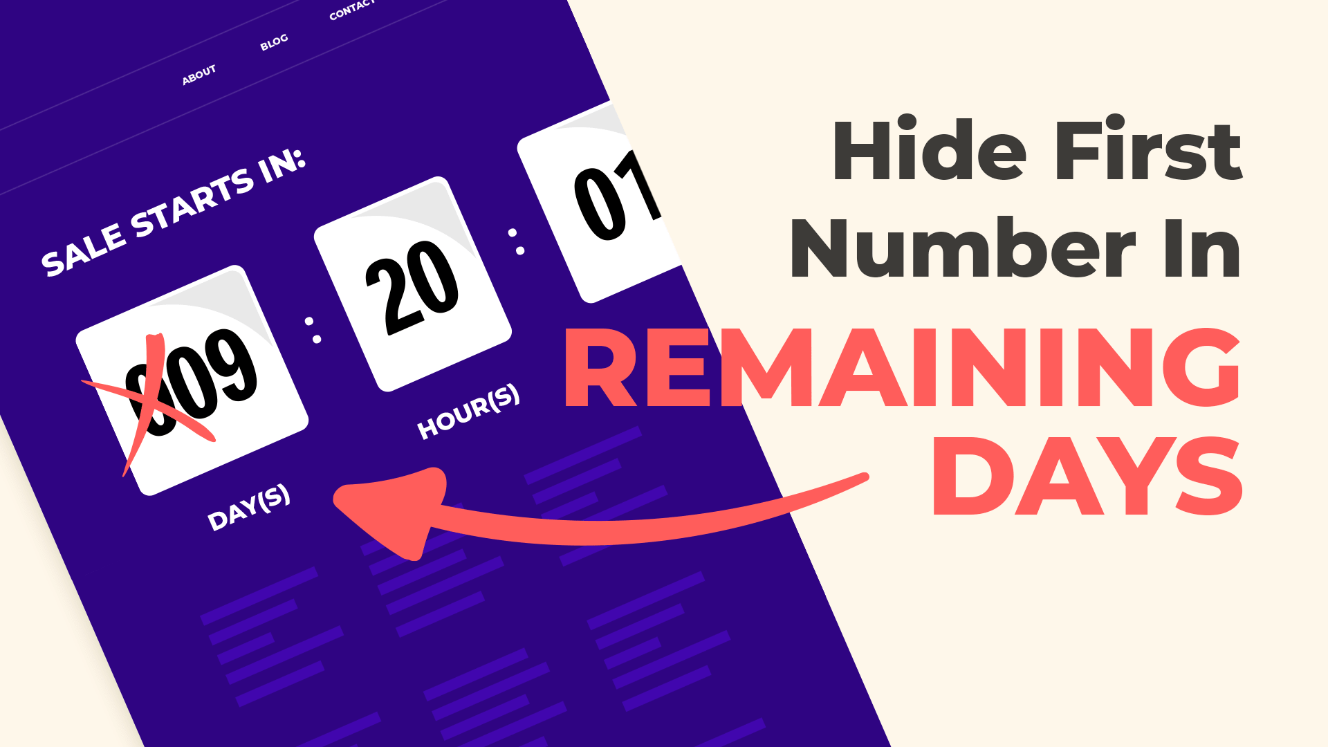 Divi Countdown Timer: Hide First Number in Remaining Days