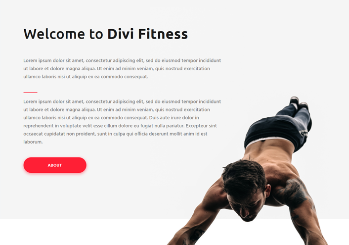 divi courses child theme - showcasing courses page