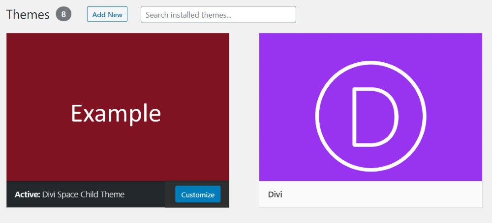 Change the theme's info in the style.css file 4