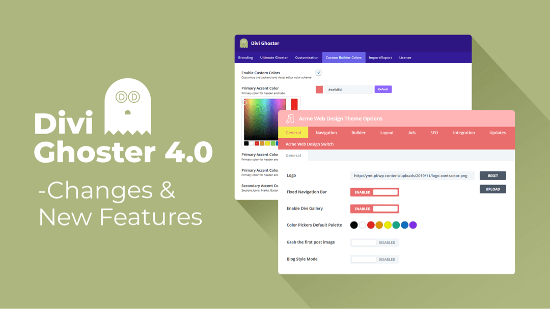 Divi Ghoster 4.0 – Changes & New Features