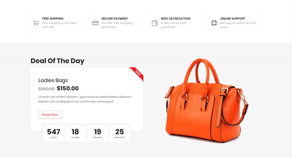 Divi Ecommerce Child Theme deal of the day