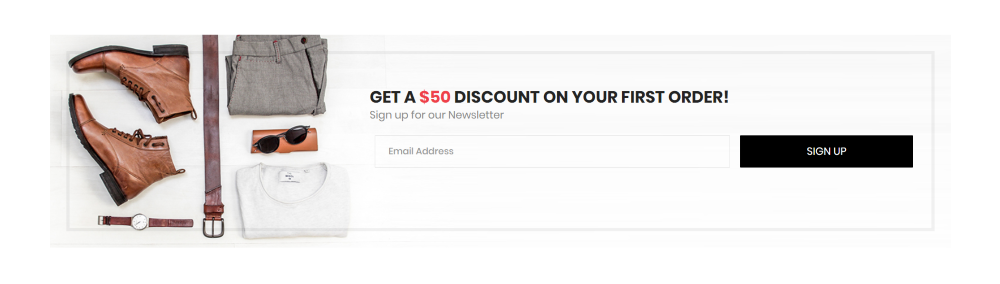 Divi Ecommerce Child Theme newsletter opt-in