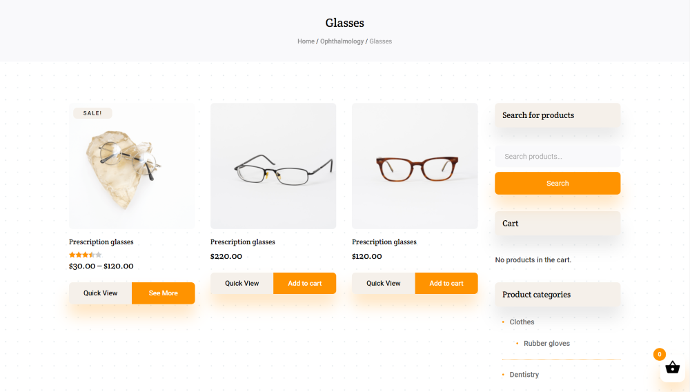 Divi Medical Ecommerce product category