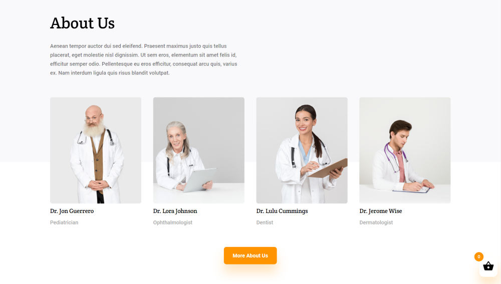 Divi Medical Ecommerce about page