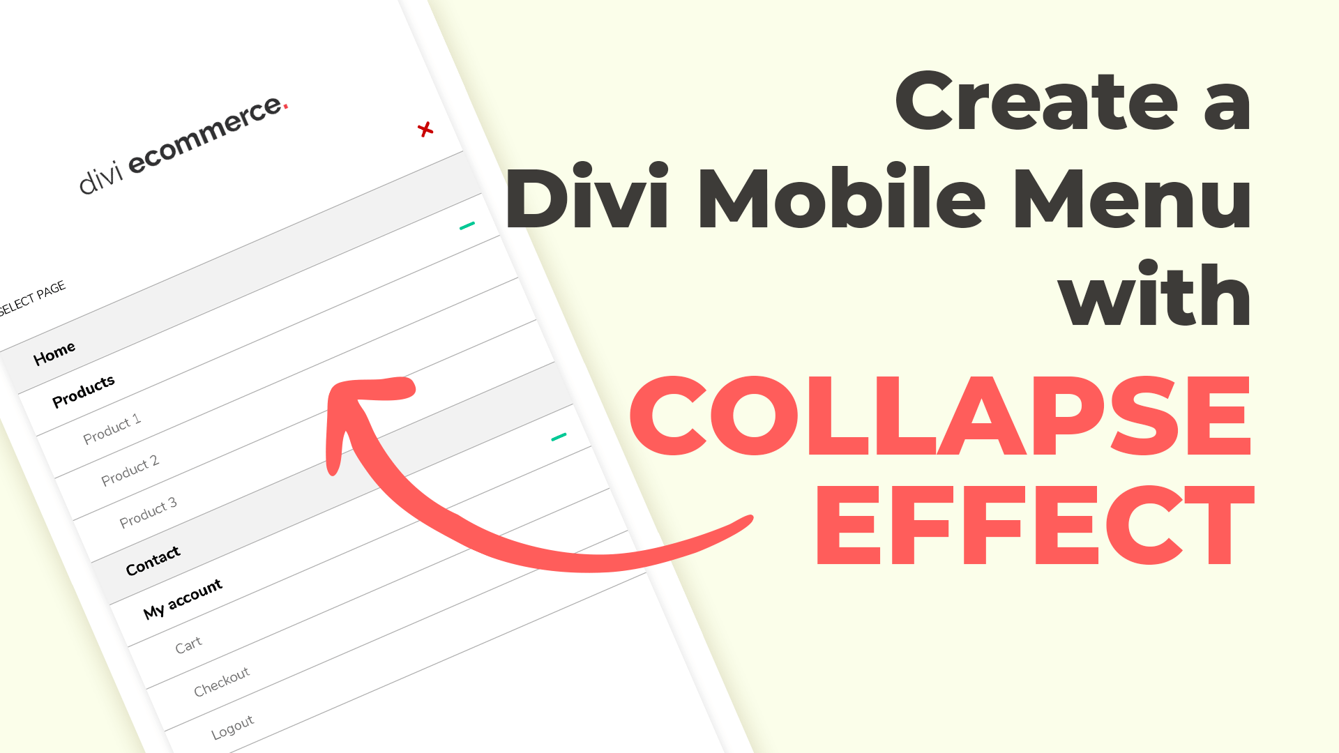 Divi Mobile: Collapse Submenus