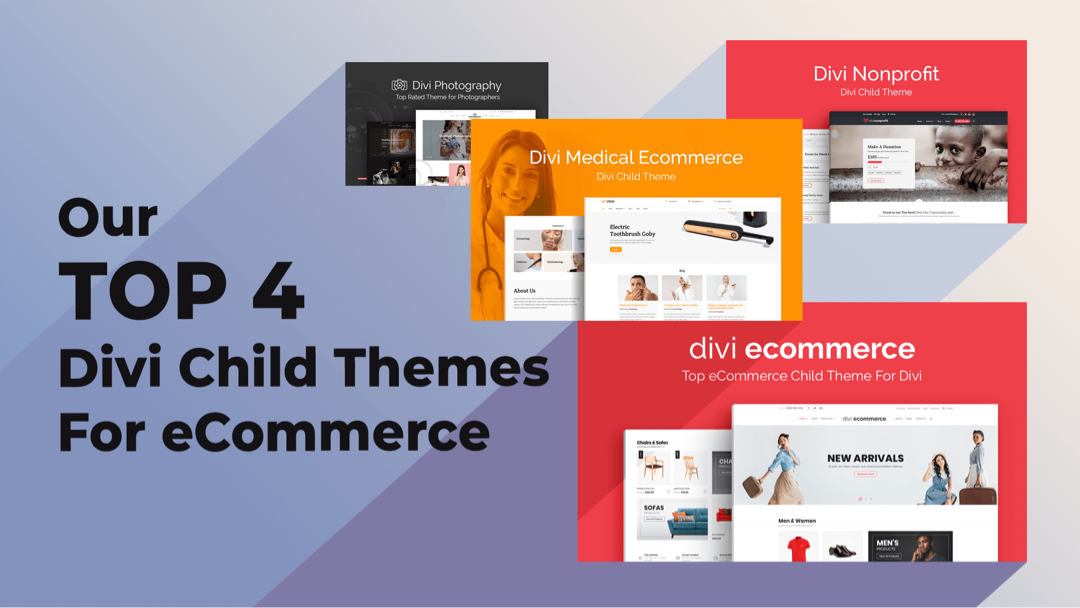 Our Top 4 Divi Child Themes for eCommerce