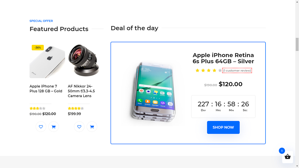 Divi Ecommerce Pro Child Theme Deal of the Day