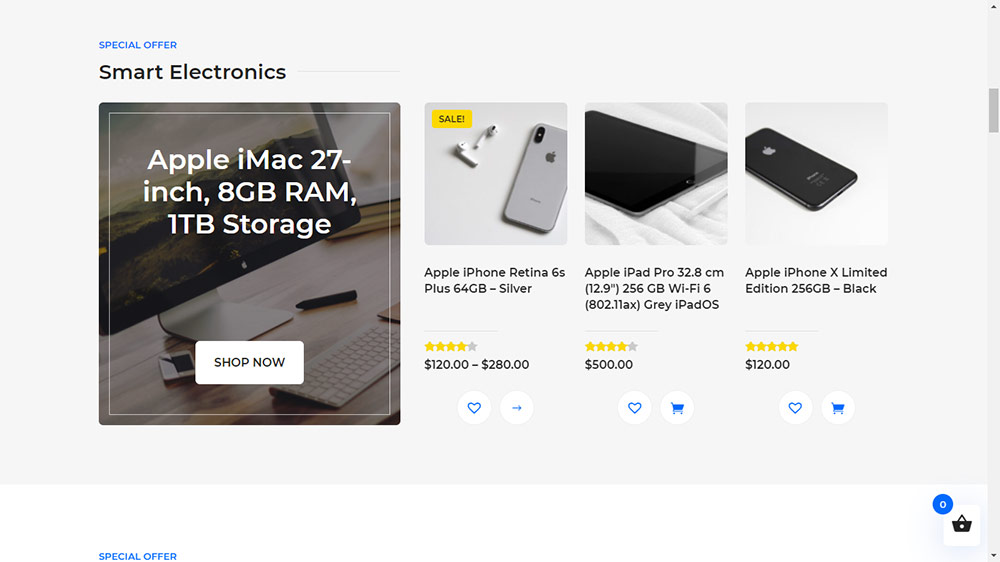 Divi Ecommerce Pro Child Theme Special Offer Section