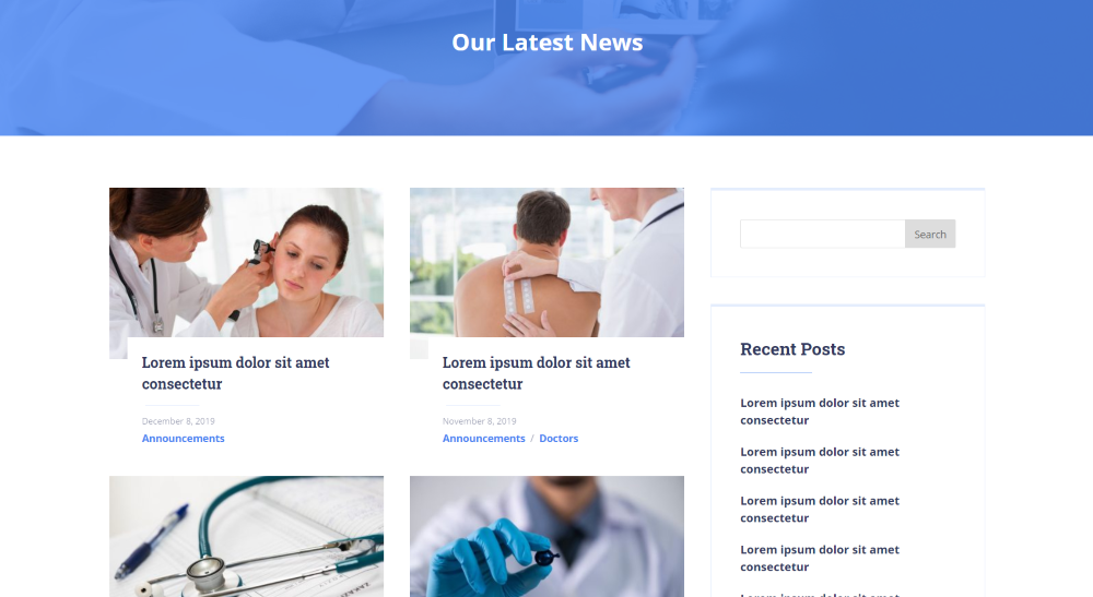 Divi Health Clinic Blog Page